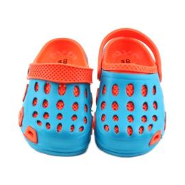 Klapki Aqua-speed niebieskie pomarańczowe 3
