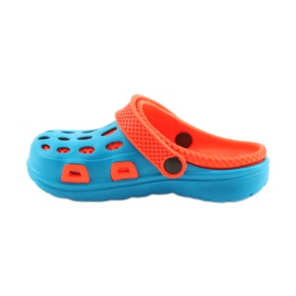 Klapki Aqua-speed niebieskie pomarańczowe 2