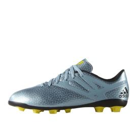 Buty piłkarskie adidas Messi 15.4 FxG Jr B26956 niebieskie niebieski 1