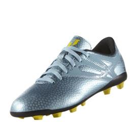 Buty piłkarskie adidas Messi 15.4 FxG Jr B26956 niebieskie niebieski 4