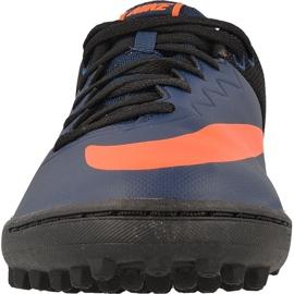 Buty piłkarskie Nike HypervenomX Pro Tf M 749904-480 niebieski, czarny, granatowy, pomarańczowy granatowe 3