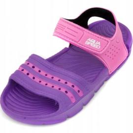 Sandały Aqua-speed Noli fioletowo różowe Kids kol.93 1