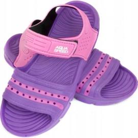 Sandały Aqua-speed Noli fioletowo różowe Kids kol.93 2