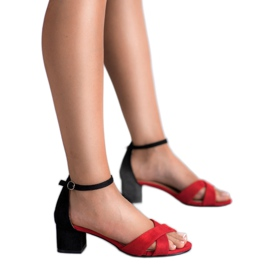 Best Shoes Stylowe Sandały Na Obcasie 1