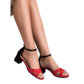 Best Shoes Stylowe Sandały Na Obcasie 5