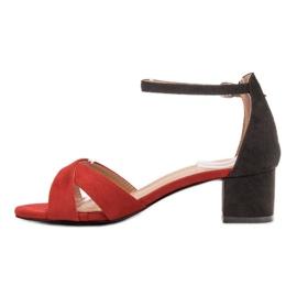 Best Shoes Stylowe Sandały Na Obcasie 4