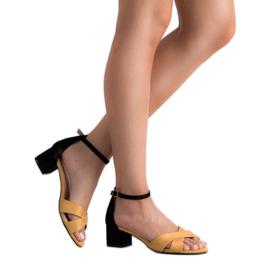 Best Shoes Stylowe Sandały Na Obcasie 6