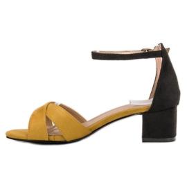 Best Shoes Stylowe Sandały Na Obcasie 2