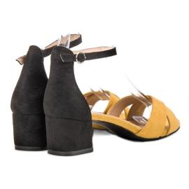 Best Shoes Stylowe Sandały Na Obcasie 3