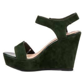 Vinceza Zamszowe Sandały zielone 1