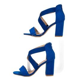Chabrowe Sandały Na Suwak VINCEZA niebieskie 5
