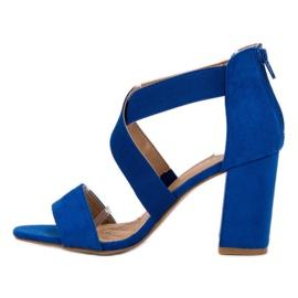 Chabrowe Sandały Na Suwak VINCEZA niebieskie 3