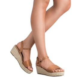 Vices Sandały Na Platformie brązowe 1