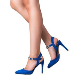 Kylie Szpilki Z Odkrytą Piętą niebieskie 4