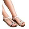 Forever Folie Sandały Z Cyrkoniami białe 1