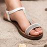 Forever Folie Sandały Z Cyrkoniami białe 2
