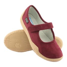 Befado obuwie damskie pu--young 197D003 czerwone wielokolorowe 4