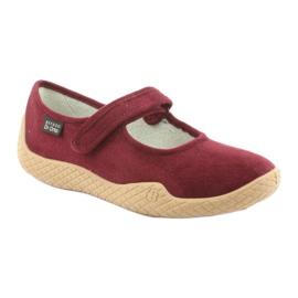 Befado obuwie damskie pu--young 197D003 czerwone wielokolorowe 2
