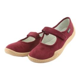 Befado obuwie damskie pu--young 197D003 czerwone wielokolorowe 5