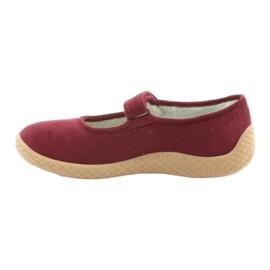 Befado obuwie damskie pu--young 197D003 czerwone wielokolorowe 3