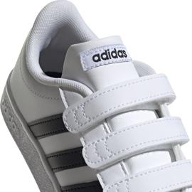 Buty Adidas Vl Court 2.0 Cmf C białe Jr DB1837 4