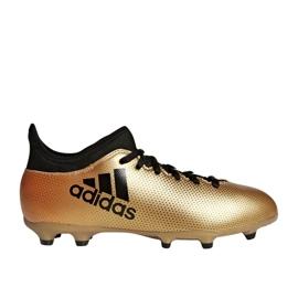 Buty piłkarskie adidas X 17.3 Fg Jr CP8990 biały, złoty złoty 1