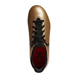 Buty piłkarskie adidas X 17.3 Fg Jr CP8990 biały, złoty złoty 2