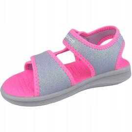 Sandały New Balance Sandal K K2031GRP różowe szare 1