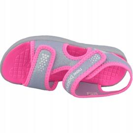 Sandały New Balance Sandal K K2031GRP różowe szare 2