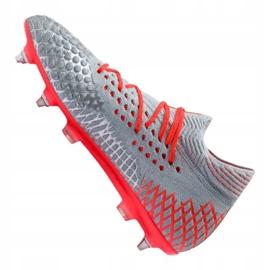 Buty piłkarskie Puma Future 4.1 Netfit Mx Sg M 105676-01 szare czerwony 3
