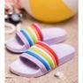 Sweet Shoes Kolorowe Gumowe Klapki zdjęcie 1