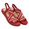 Seastar Wygodne Sandały Damskie czerwone 2