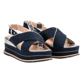 Lily Shoes Sandały Zapinane Sprzączką niebieskie 3
