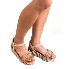 Ciemnobeżowe Sandałki VICES brązowe 2