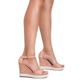 Seastar Sandały Na Koturnie różowe 1