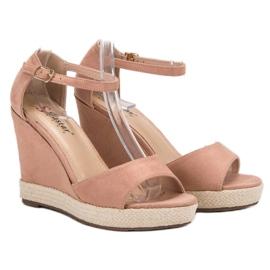 Seastar Sandały Na Koturnie różowe 3