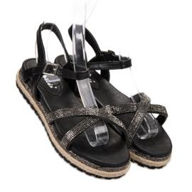 SHELOVET Czarne Sandały Damskie 1