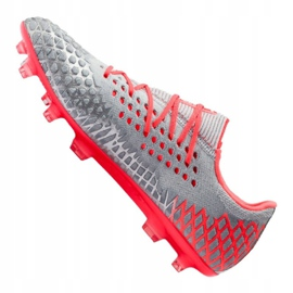 Buty piłkarskie Puma Future 4.1 Netfit Low Fg / Ag M 105730-01 szare wielokolorowe 3