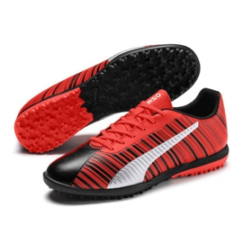 Buty piłkarskie Puma One 5.4 Tt M 105653 01 czerwone wielokolorowe 2
