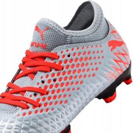 Buty piłkarskie Puma Future 4.4 Fg / Ag Jr 105696-01 szare wielokolorowe 2