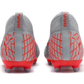 Buty piłkarskie Puma Future 4.3 Netfit Fg Ag M 105612 01 szare wielokolorowe 5