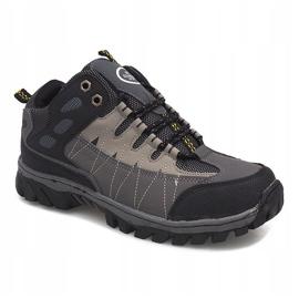 Szare męskie obuwie trekkingowe M317 3