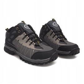 Szare męskie obuwie trekkingowe M317 4