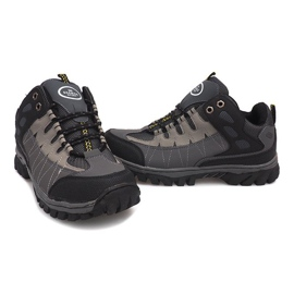 Szare męskie obuwie trekkingowe M317 5