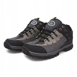Szare męskie obuwie trekkingowe M317 1