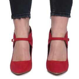 Czerwony botki na szpilce Thérèse czerwone 1