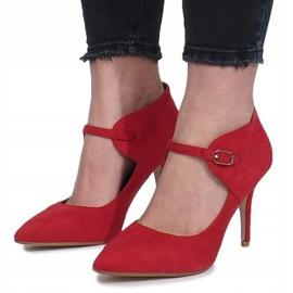 Czerwony botki na szpilce Thérèse czerwone 2