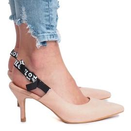 Różowe szpilki sandałki Love Paris 2