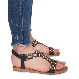 Czarne płaskie sandały rzymianki Summer 3