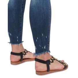 Czarne płaskie sandały rzymianki Summer 4